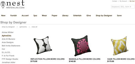 AphroChic Pillows at Nest