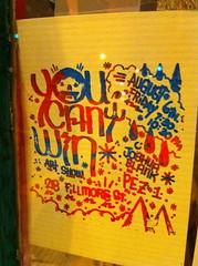 Gocco'd art show flier for You Can't Win (docpop) Tags: print gocco silkscreen fillmore pez1