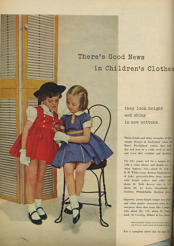 1953 girl's fashions