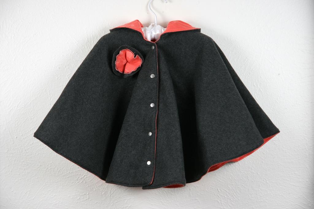 Reversible Hooded Baby Cloak