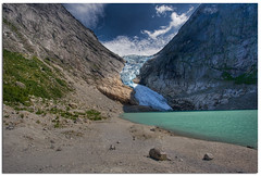 Briksdalsbreen (Mariusz Petelicki) Tags: norway norge glacier hdr lodowiec briksdalsbreen 3xp norwegia briksdalglacier jostedalsbreennasjonalpark mariuszpetelicki scandynawia