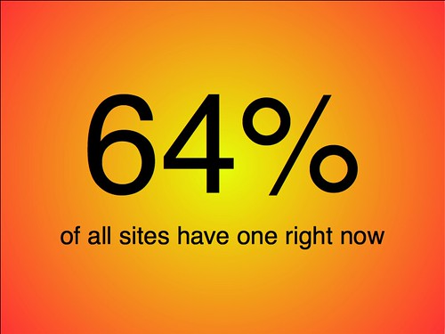 64% of all sites have a security flaw right now