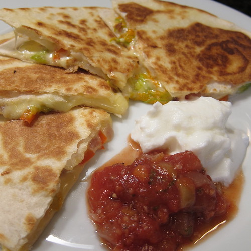 Pumpkin Blossom Quesadillas
