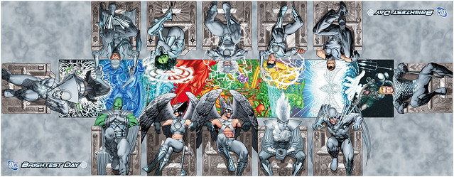 DC Comics White Lantern Variant Covers - a la the Sistine Chapel