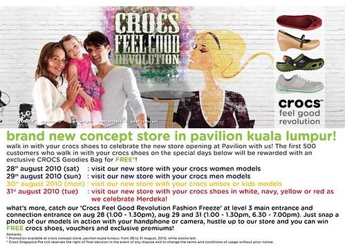 Pavillion Store KL Crocs Opening