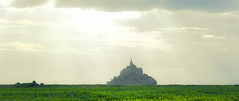 French Pyramid (elin loo) Tags: sky france castle field mark citadel le ii 5d stmichel fortress normandy mont