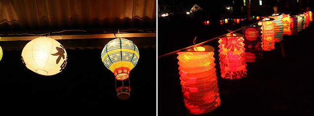 illumination lanterns in oak bluffs, martha's vineyard
