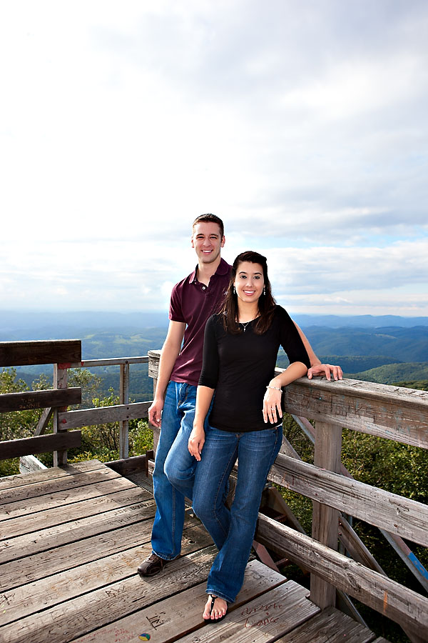 On the fire tower