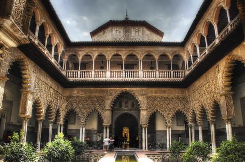 Seville. Patio de las doncellas. Sevilla