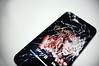 shattered iphone 4 (raysnaps ☂) Tags: broken glass four 4 screen front portfolio shattered iphone scherven gebroken kapot