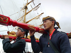 Maritime manifestation at the Indonesian Dewaruci Tall ship by B?n