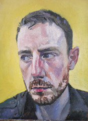 A new self portrait (James Larcey) Tags: original portrait selfportrait man art face painting beard head oil worried worry frown oils oilpainting concern larcey jameslarcey