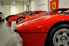 Italian Masterpieces (Mac K Photography) Tags: red italy horse art classic sports up car modern work logo italian nikon michigan garage ken super f1 ferrari row racing line collection exotic enzo gto sultan modena epic scuderia masterpiece 288 prancing f40 lingenfelter falg d5000