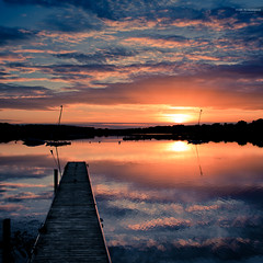 Square Sunset (Marc Benslahdine) Tags: lake france reflection sunrise landscape soleil dock mood explorer lac explore ciel nuages bateau paysage frontpage reflexion franais ponton coucherdesoleil barque lightroom etang traitement explored buoyant tamronspaf1750mmf28xrdiii vairessurmarne canoneos50d marcopix lightroom3 basedeloisirs tripax marcbenslahdine wwwmarcopixcom wwwfacebookcommarcopix marcopixcom