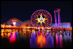 Paradise Pier at Night [Explore] (Corsey21) Tags: world california color wheel night fun pier paradise disneyland disney mickey adventure explore 7d walt screamin maliboomer sigma1020mmf456exdchsm disneyphotochallenge
