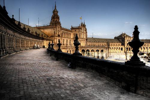 Seville. Terrace. Plaza de España. Sevilla. Azotea
