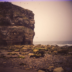 Marsden Rock (boscoppa) Tags: sea 120 6x6 film rock seaside fuji fujifilm halina reala beack prefect marsden