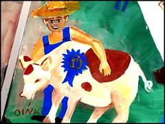 Pennsylvania ~ Washington (e r j k . a m e r j k a) Tags: rural pig washington whimsy pennsylvania country murals fair publicart whimsical farmboy erjkprunczyk