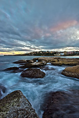 North Coogee movement (Sam Lodge) Tags: ocean longexposure light sunset sea cloud storm colour beach water pool beauty sunrise canon photography bay photo movement rocks long flickr sam angle wide sydney australia wideangle lodge explore 1020mm 1020 clovelly hdr coogee teenage gordons gordonsbay 10mm 550d teenagephotographer samlodge samlodgephotography