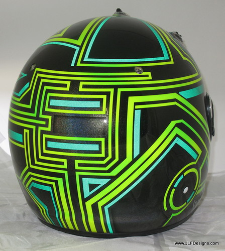 Rear view of Viso's helmet