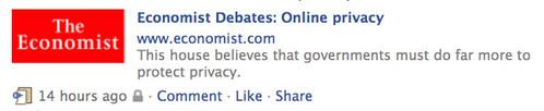 Economist Debates: Online Privacy.