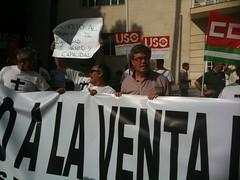 Fdez de Moya en concentración trabajadores Agencia Andaluza del Agua