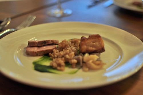 lavender pork belly + pork tenderloin