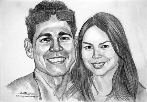 Couple pencil portraits 220810