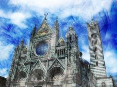 duomo siena (bluarancio85) Tags: photoshop chiesa campanile siena duomo cattedrale