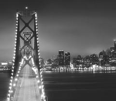 Down by the Bay (rolandvarriale) Tags: sf sanfrancisco california ca blackandwhite skyline baybridge offset nikond90