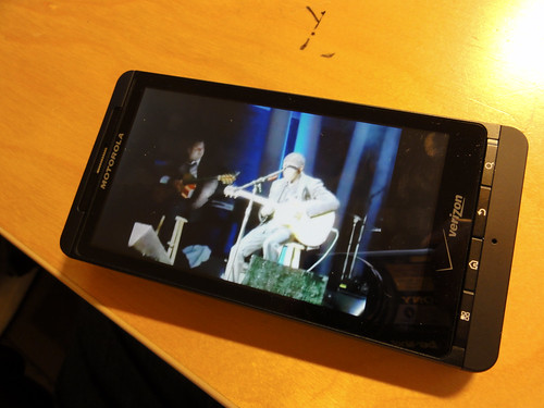 youtube watching on a droid x