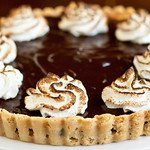 Chocolate Peanut Meringue Tarts