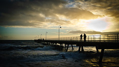Viewing Sunset at Glenelg Jetty (autumn_leaf) Tags: sunset sea clouds seaside cloudy jetty southaustralia glenelg