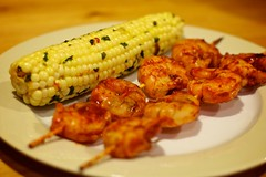 DIY Spicy BBQ Shrimp with Grilled Corn :: The Result