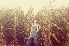 corny (enjoythelittlethings) Tags: sunlight girl self corn wheat country overalls fields aviators bibs yeahbaby