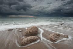 Whitburn (Alistair Bennett) Tags: sunset seascape evening coast rocks southshields darksky tynewear whitburn canonefs1022 gnd06he mordorskies