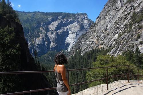 Top of Vernal Falls Yosemite National Park California