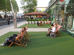 Deckchairs on the Southbank (Flickr)