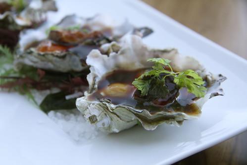 Napa Morimoto - oyster, uni, foie gras, teriyaki