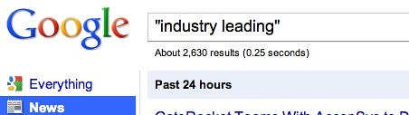 """industry leading"" - Google Search"