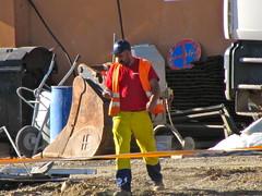 Yellow Railworker (googleball) Tags: construction worker bb hiviz bauarbeiter workie gglbll