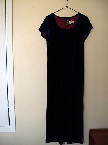Velvet Two Toned Dress
