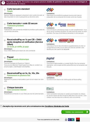 3D secure: Oui mais en option: picture Page paiement Discounteo by danielbroche