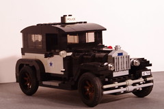 Ford Model A 1928 Tudor Sedan Police Vehicle