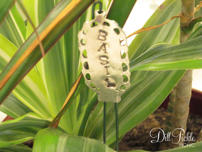 Project 4 - Stamped Plant Markers