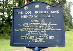 Marker for Col. Robert Sink Memorial Trail (jayinvienna) Tags: bandofbrothers toccoa camptoccoa easycompany currahee colrobertsink 506thpir robertsink sinkmemorialtrail