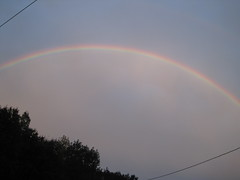 no rain, no storm, just a beautiful rainbow!