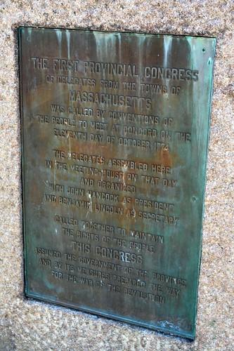 Concord Plaque