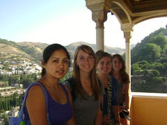 Ana, Alli, Sara, and Becca at the Alhambra
