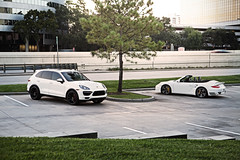 Porsche Cayenne Turbo and 2011 Turbo S (Danh Phan) Tags: houston porsche turbos cayenneturbo 2011porsche